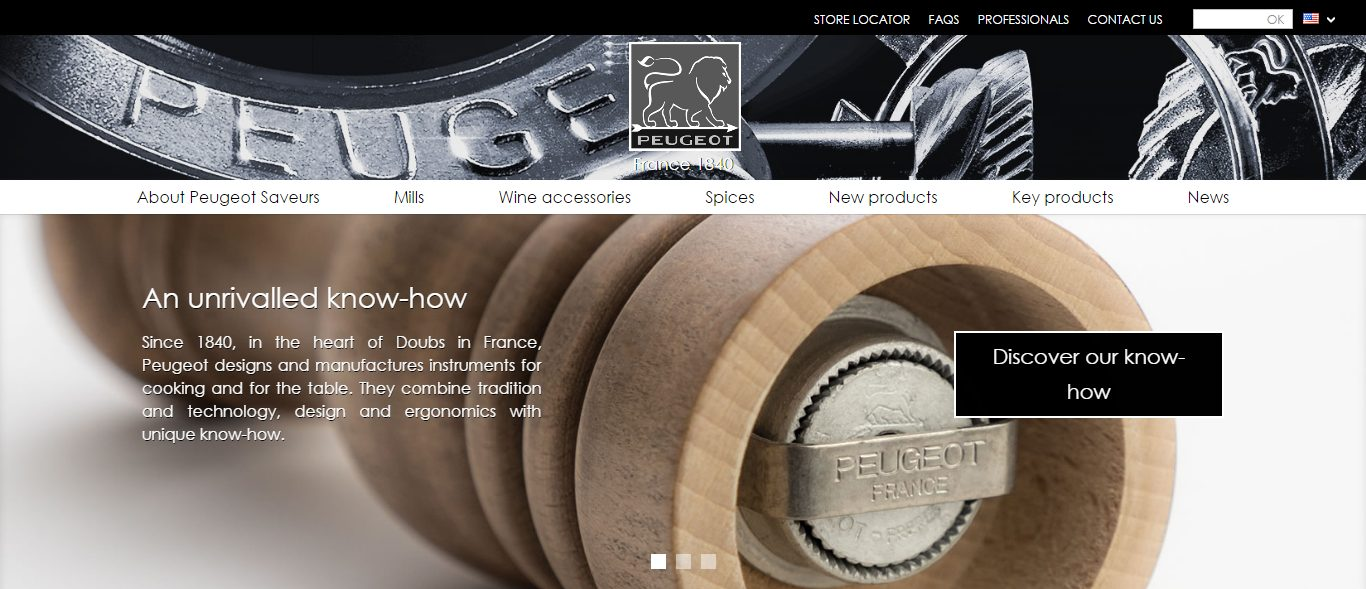 Peugeot Saveurs Home page diapositive 1