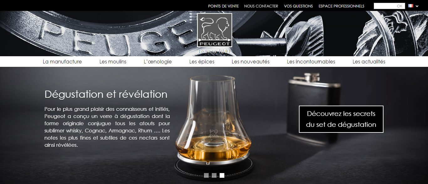 Peugeot Saveurs Home page diapositive 3